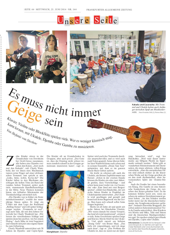 Frankfurter Allgemeine Zeitung 2014