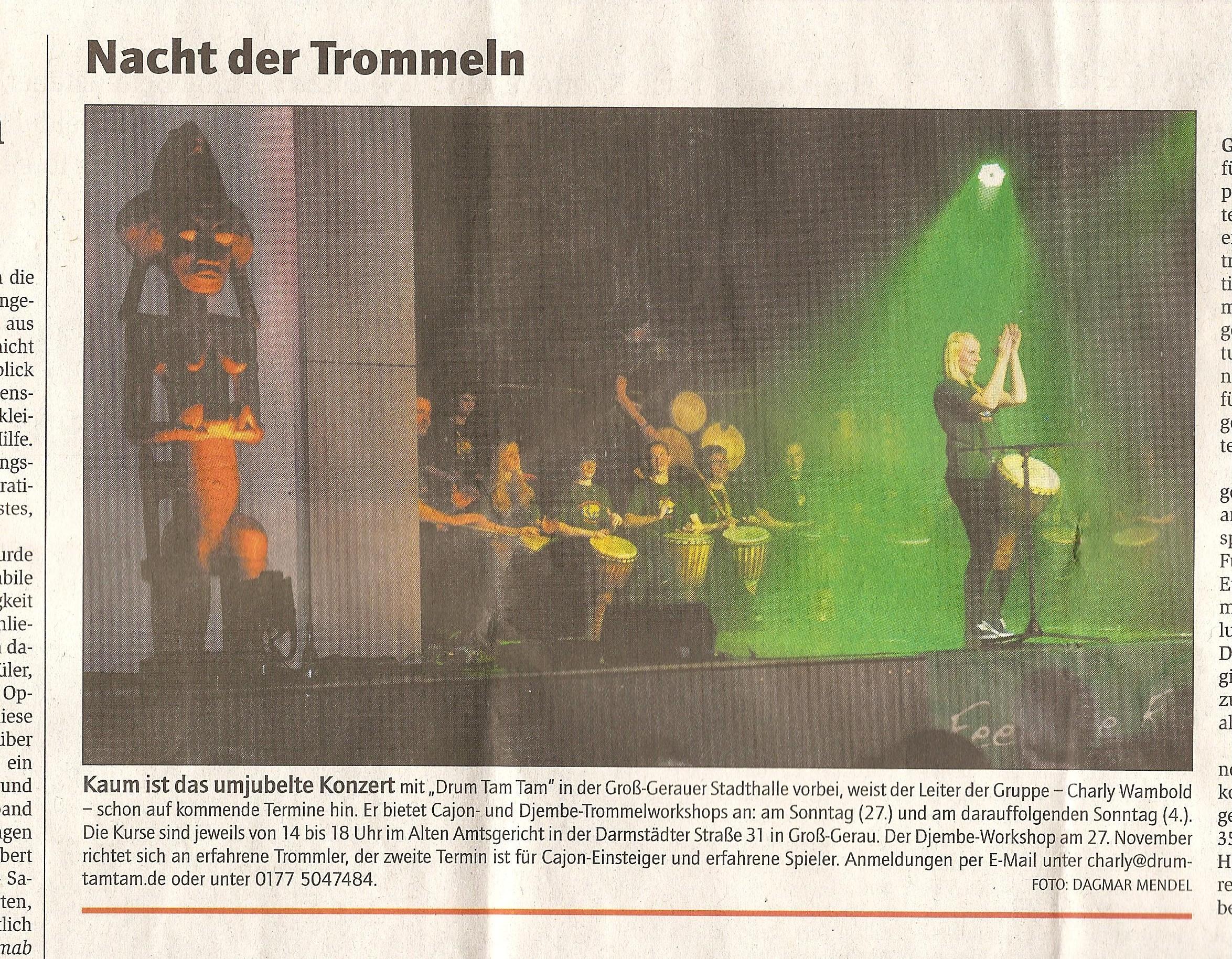 Konzert Gross-Gerauer Echo24.11.2011